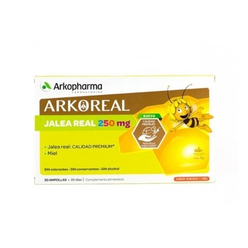 ARKOREAL JALEA REAL 250 MG 20 AMPOLLAS 15 ML