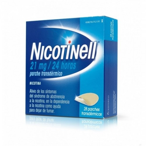 NICOTINELL 21 MG/24 H 28 PARCHES TRANSDERMICOS 52.5 MG