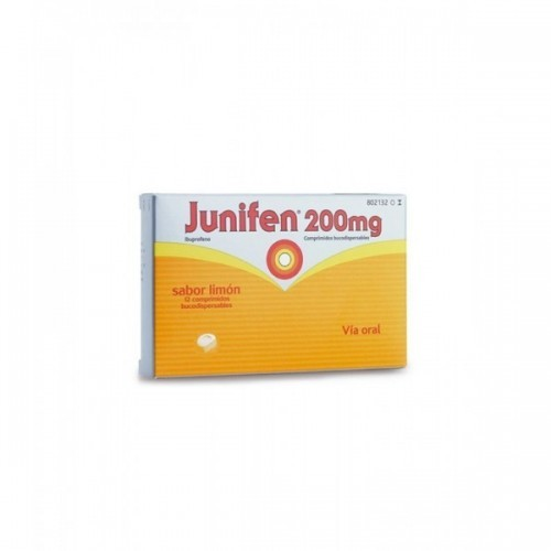 JUNIFEN 200 MG 12 COMPRIMIDOS BUCODISPERSABLES LIMON